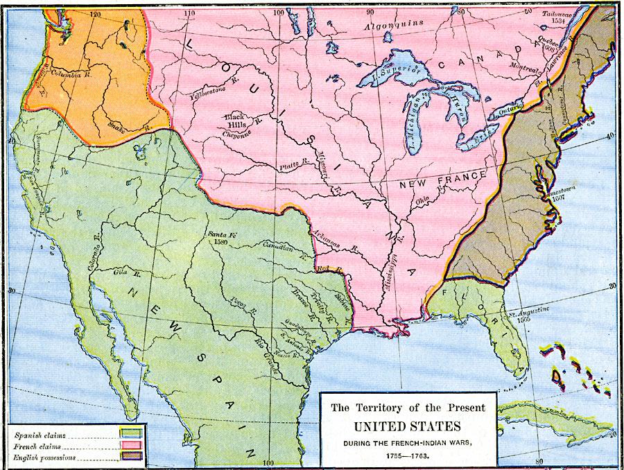 French-Spanish-British-Claims-in-North-America-1755-1763